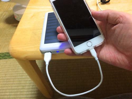 iPhoneの充電は短い充電ケーブルを使う