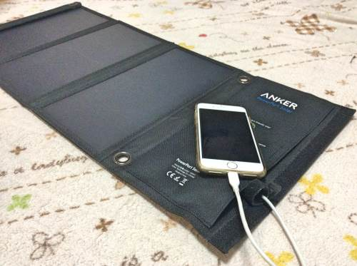 ANKER太陽光発電モバイルバッテリー