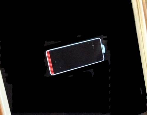 iPhoneのバッテリー切れサイン