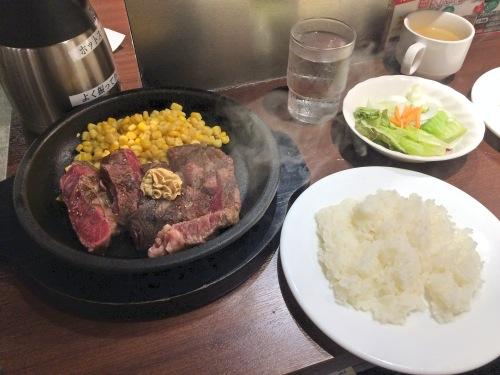 いきなりステーキのランチセット