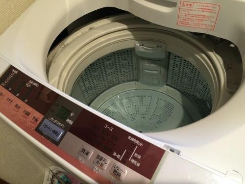 洗濯機を満水にする