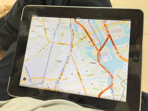 MAPS.MEを初代iPadで表示