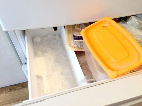製氷機が冷凍庫内にある