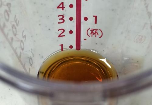 ペットボトルのフタ約3分の1が小さじ1