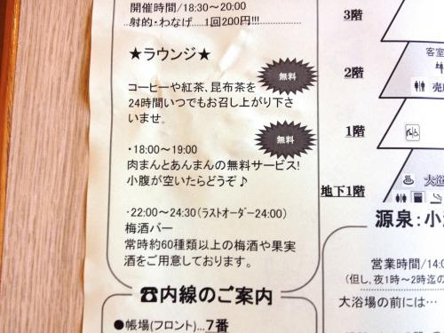 箱根小涌谷温泉 水の音は無料サービスが充実