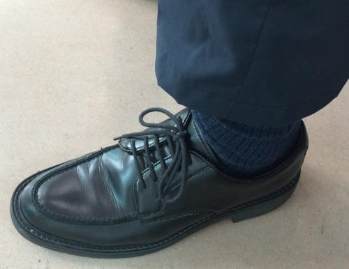 乾燥させた革靴は履き心地が良い