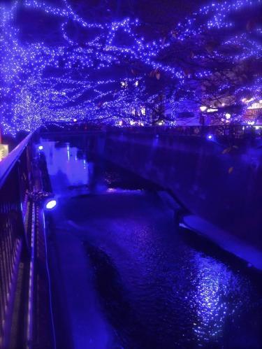 目黒川の青の洞窟イルミネーション