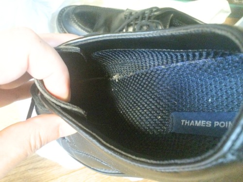 革靴の中もしっかりと乾燥されていました