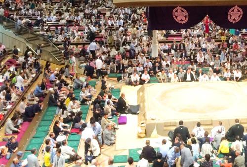 両国国技館大相撲観戦のマス席A