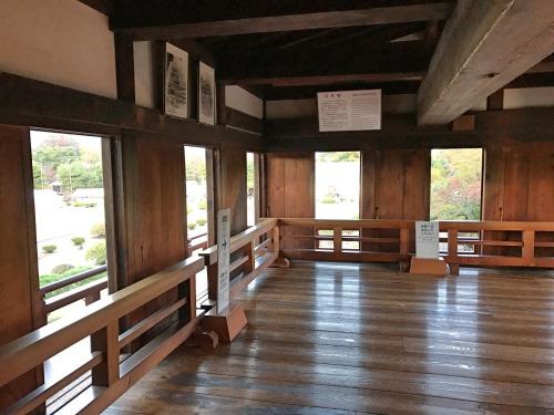 松本城の回廊がある部屋