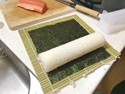 自宅で作る恵方巻きの作り方(太巻き)