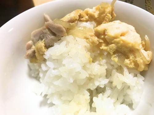 長崎県松浦市のふるさと納税『旬のお野菜+産みたて濃厚玉子』の玉子を親子丼にしたら美味しかった