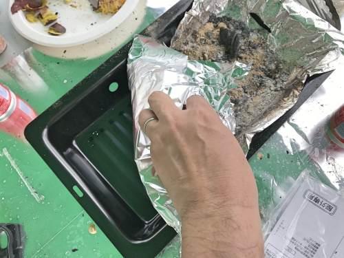 BBQの炭を簡単に片付ける方法
