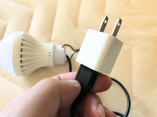 USBコンセントにつなげば、家庭用コンセントから電源供給可能