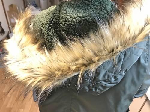 リーズナブルなファー襟付き中綿モッズコートを着てみた