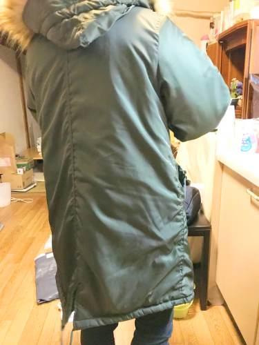 155cm女性でサイズLがぴったり!しっかりしたコートの作りという印象