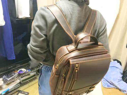 女の子にも似合う!本革でリュック・ボディバッグにもなるTIDINGバッグを使ってみた