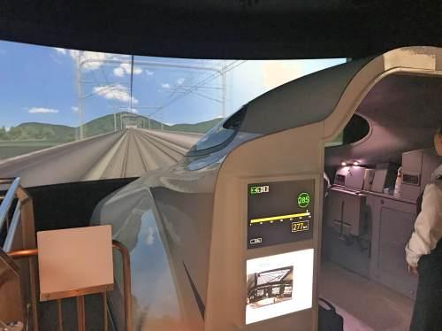 リニア・鉄道館の新幹線の運転シミュレーション