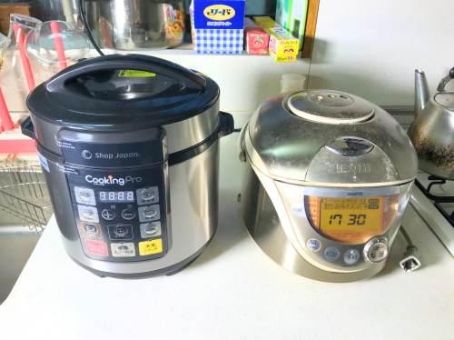 クッキングプロと炊飯器の大きさ比較