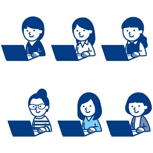ブログを見る人々